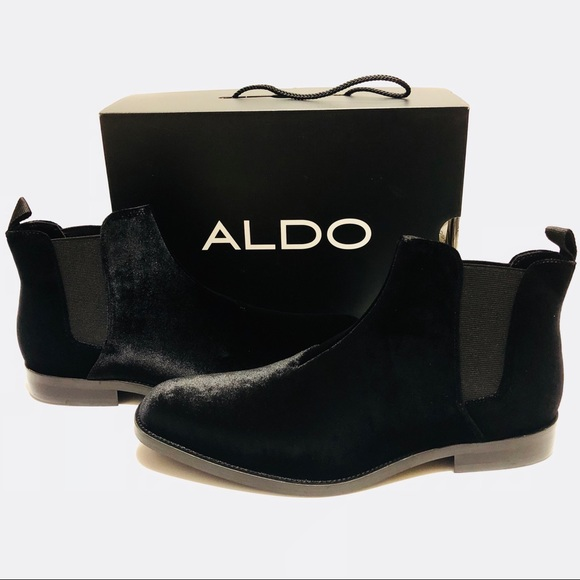 fc8c63f8f3 Aldo Suede Velvet Black Chelsea Boots Mens New 10 NWT